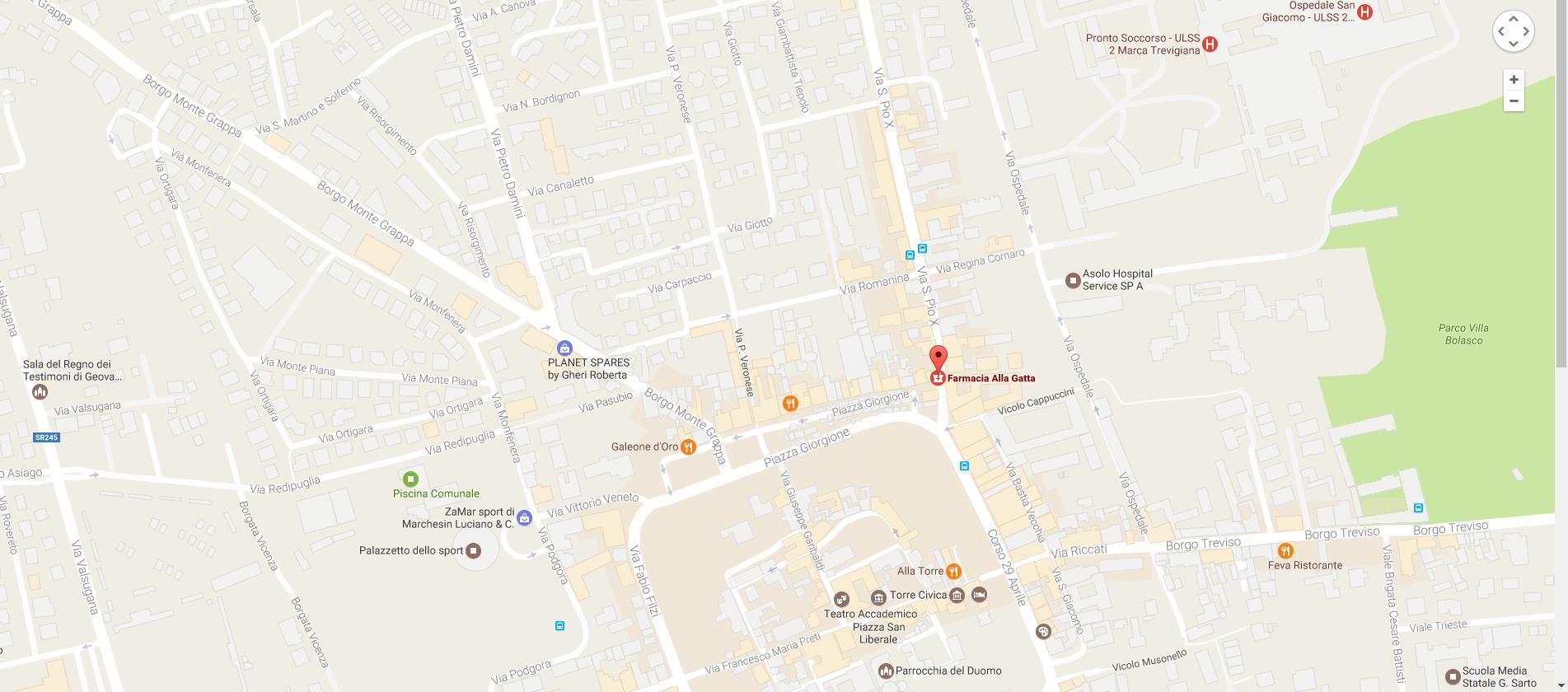 maps FARMACIA ALLA GATTA